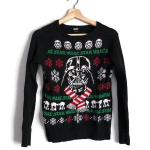 Disney Star Wars Darth Vader Falalala Sweater XS